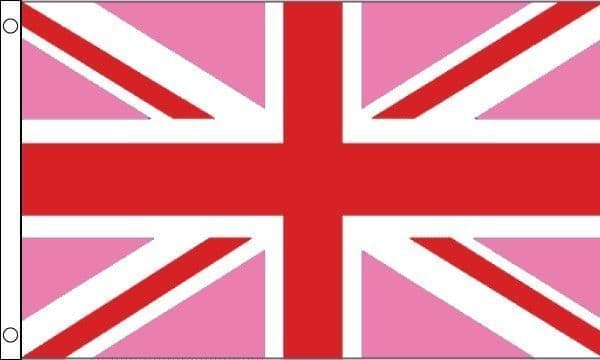 Union Jack Pink and Red Gay Pride Flag